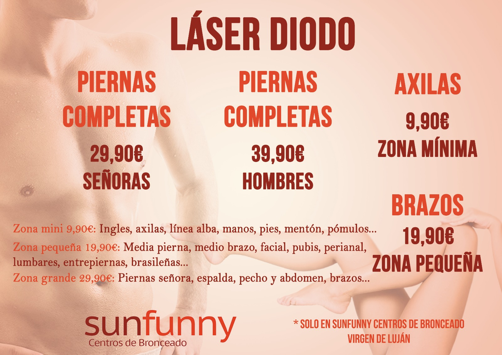 Depilación láser de diodo en Sevilla